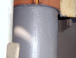 Belzona 5851 (HA-Barrier) applied to the hot pipework