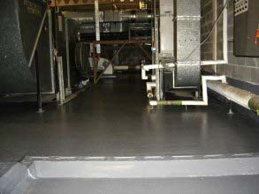 Belzona 5231 (SG Laminate) used to repair and protect leaking floor without disruptions to the hospital operations